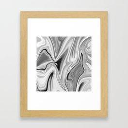 Liquid Gray Framed Art Print