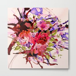 floral splash Metal Print
