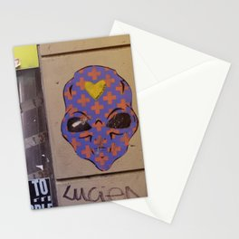 Martian street art Stationery Cards