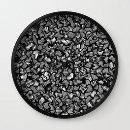 Two Tone Wobble Tiles Pattern Wall Clock