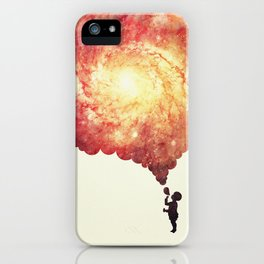 The universe in a soap-bubble! (Awesome Space / Nebula / Galaxy Negative Space Artwork) iPhone Case