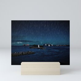 Night Rain at Nassau Mini Art Print