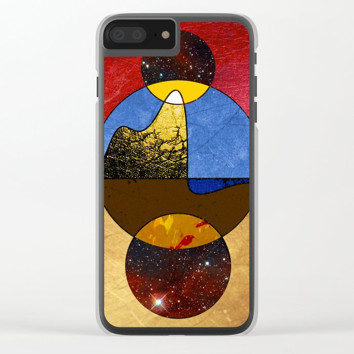 Abstract #117 Clear iPhone Case