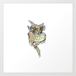 WISE GUY OWL Art Print