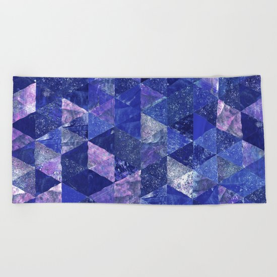 Abstract Geometric Background #19 Beach Towel