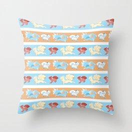 Vulpix and Ninetales Stripe Throw Pillow