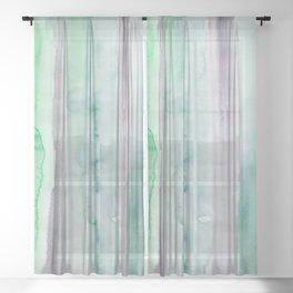22    190907   Watercolor Abstract Painting Sheer Curtain