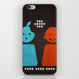 she loves you yeah yeah yeah iPhone Skin