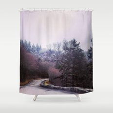 Winter On Top Shower Curtain