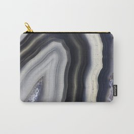 Grey agate slice Carry-All Pouch