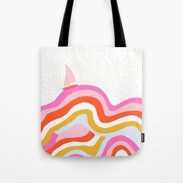 catalina, sailing waves Tote Bag