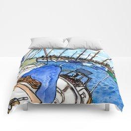 Boats at the Marina Comforters