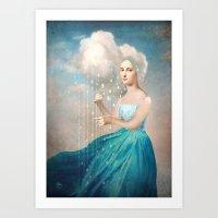 rain Art Prints featuring Melody of Rain by Christian Schloe