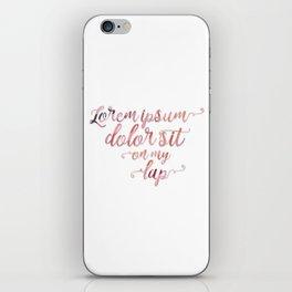 Lorem Ipsum Dolor Sit iPhone Skin