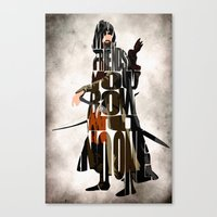 aragorn Canvas Prints featuring Aragorn Inspired Minimalist LOTR Poster by Ayse Deniz
