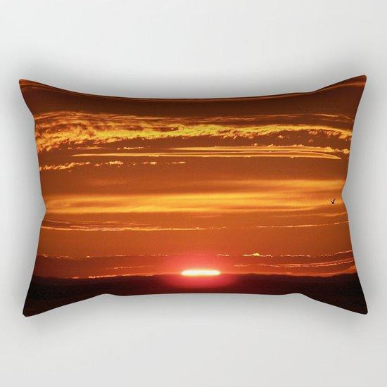 Red Sky Flight Rectangular Pillow