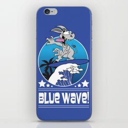 Democrat Donkey Blue Wave 2018 Midterm Voters iPhone Skin