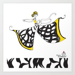 Lucia - Lady Butterfly Art Print