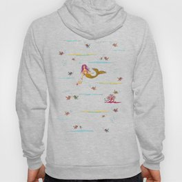 Fashionable mermaid - yellow-orange Hoody