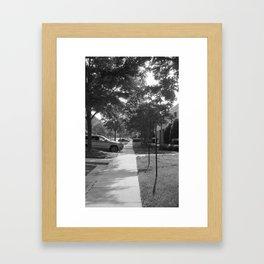 A long path Framed Art Print