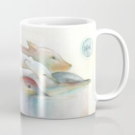 Four Animals being Friends Coffee Mug