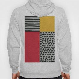 Earth Tone, Red Orange Pattern, Scandinavian Design Hoody