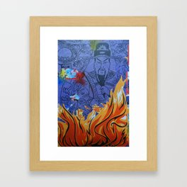 Burnin' Paper 1 Framed Art Print