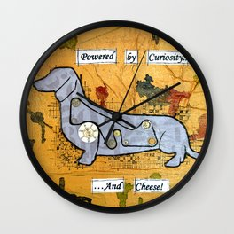Dachshund - Powered by curiosity Wall Clock