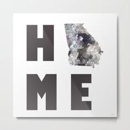 """Georgia """"HOME"""" Metal Print"""