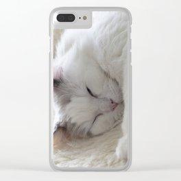 Ragdoll Cat Cuddles Clear iPhone Case