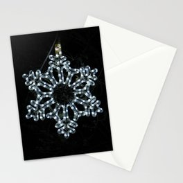 Christmas Snowflake in Ice Blue Stationery Cards