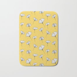 Ginkgo Biloba Leaves Pattern #society6 #decor #buyart Bath Mat
