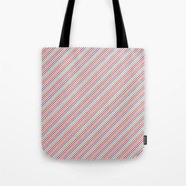 Geometrical violet red orange modern stripes pattern Tote Bag
