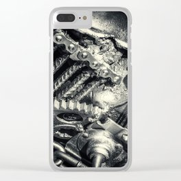 Machine Part BNW Abstract II Clear iPhone Case