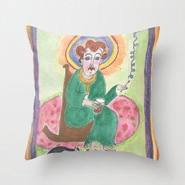 Irish Grandma as depicted in the Book of Kells Throw Pillow