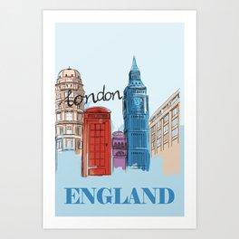 London England - Vintage Travel Poster Art Print