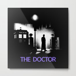 The 10th Doctor meets a new enemy Metal Print