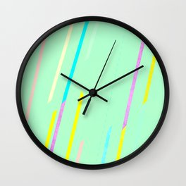 fresh thin strips / neon Wall Clock
