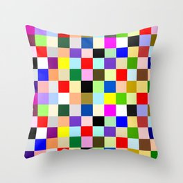 Colorful Squares Throw Pillow