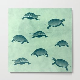 Down with the turtles Metal Print