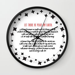Let There Be Peace on Earth Wall Clock
