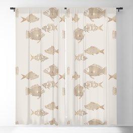Fantastical Fish 2 - Natural Blackout Curtain