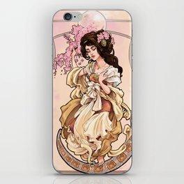 La Princesse aux fleurs de pêcher iPhone Skin