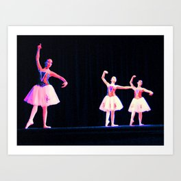 Ballet Trio Art Print