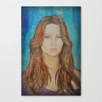 jennifer lawrence Canvas Prints featuring Jennifer Lawrence by Jenn
