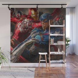 War of superhero Wall Mural