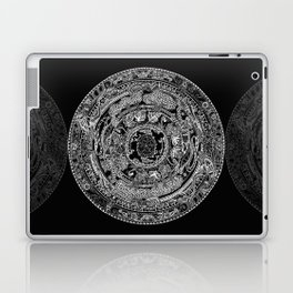 An Island Mandala - PEI, Canada - Original Colors - Black on White Laptop & iPad Skin