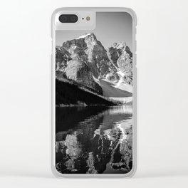 Moraine Lake (Black & White) Clear iPhone Case