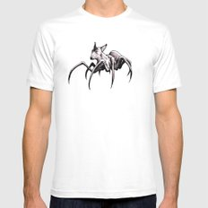 Spider-Dog White Mens Fitted Tee MEDIUM