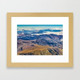 Andes Mountains Aerial View, Chile Framed Art Print